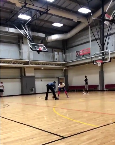 Player Gets Clowned by Police Officer in a Game of 1-on-1