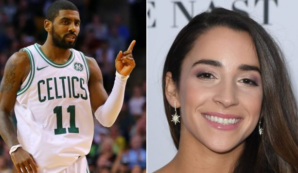 Kyrie Shooting his Shot with Aly Raisman?