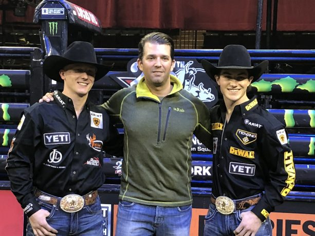 Donald Trump Jr. Attends First PBR event at Madison Square Garden