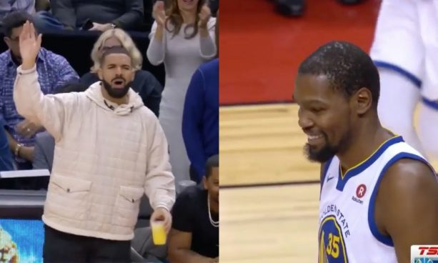 Drake Mocks Kevin Durant after Missed Dunk