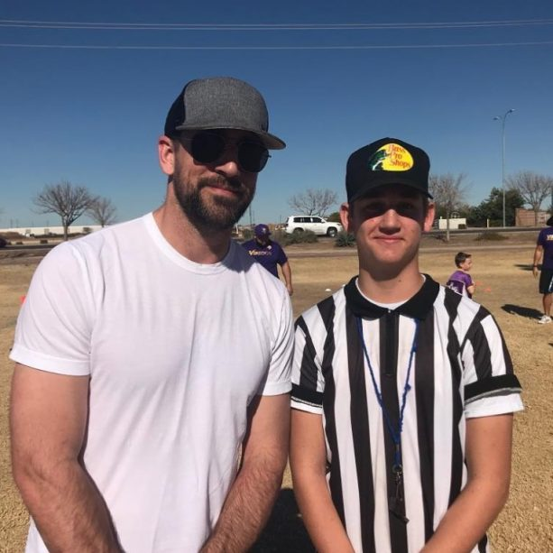Aaron Rodgers Spotted at NFL Approved Youth Flag Football