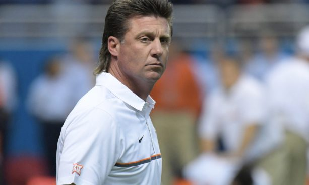 Mike Gundy's Film Room Reaction to Bama's game-winning TD was Classic