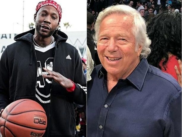2 Chainz Shows Bob Kraft the Middle Finger Salute