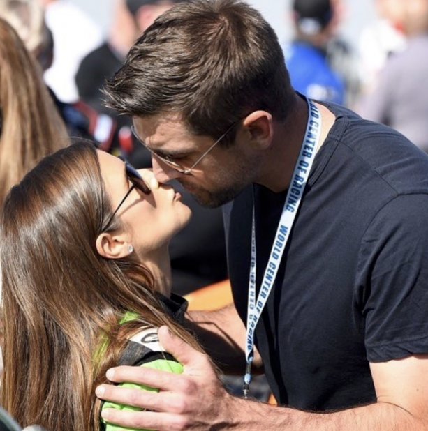 We Told You Aaron Rodgers & Danica Patrick's First Kiss Was A PR Stunt