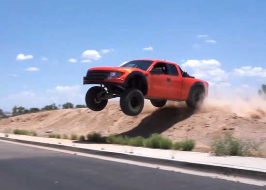 Video- Testing A Trophy Truck On The Street Is Pretty Dope
