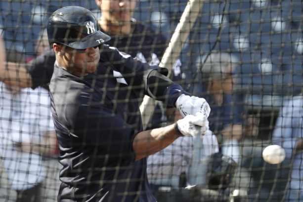 Russell Wilson on hitting 6 HR in Yankees BP
