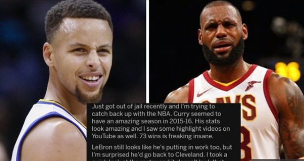 Man Freed from Prison After 4 Years Can't Figure Out What the Hell Happened to the NBA