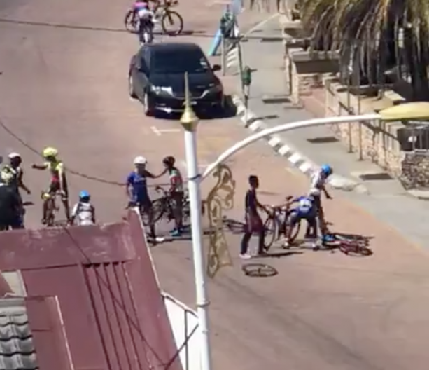 Cyclists Going HAM Throwing Bikes At Each Other
