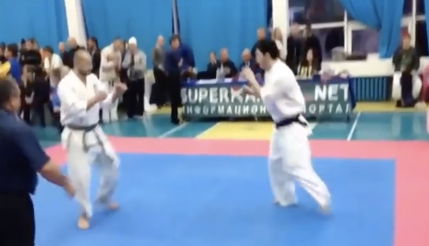 Video- Karate Match Is Over Before It Starts!