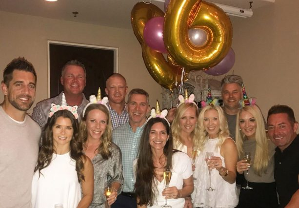 Pictures Of Aaron Rodgers At Danica Patrick's 36th Birthday Party