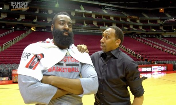 How Stephen A. Smith would call James Harden's nasty crossover on Wesley Johnson