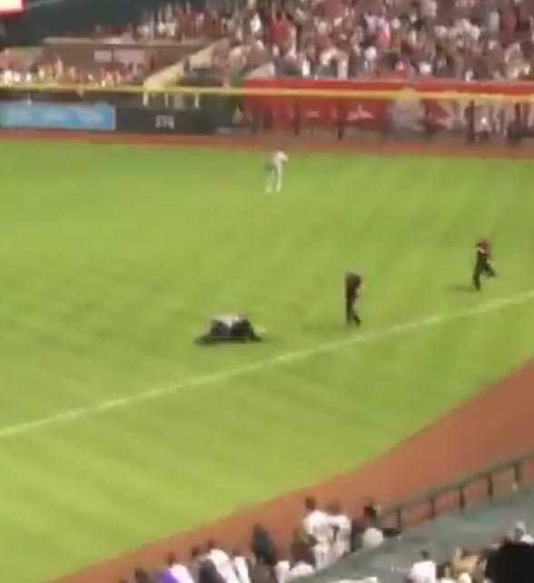 Streaker Interrupts Diamondbacks Opener