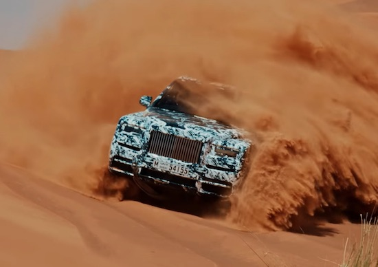 Rolls Royce SUV Gets Tested In The Dubai Sands