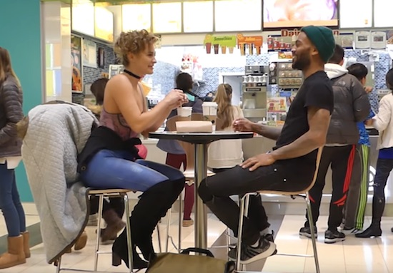 Model Goes on Tinder Date Wearing ONLY BODY PAINT!