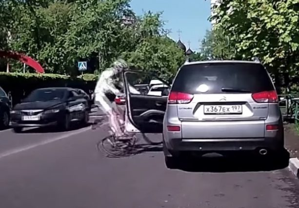 Cyclists Getting Doored Compilation (It's PAINFUL)