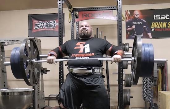 Watch The World's Strongest Man Train In His Garage