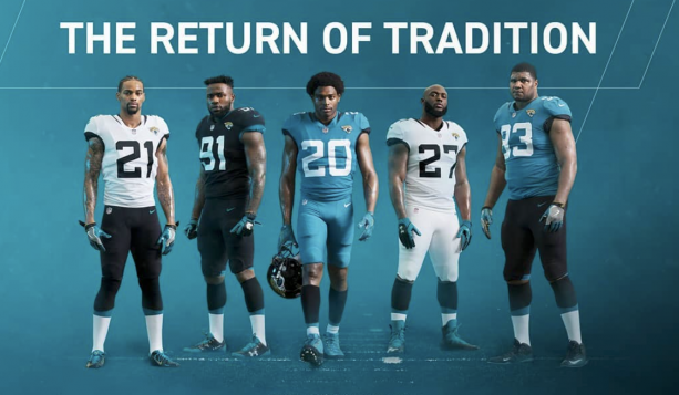 Jacksonville Jaguars Have New Uniforms