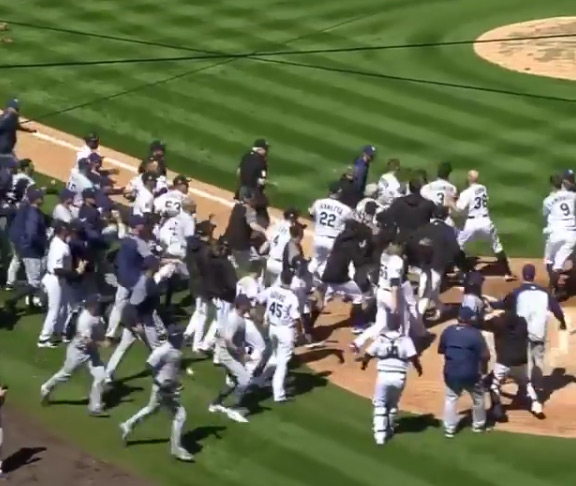 Bench Clearing Brawl in Padres/Rockies Game (VIDEO)