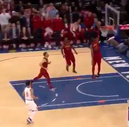 Michael Beasley Gets Out Of The Way Of LeBron James' Dunk