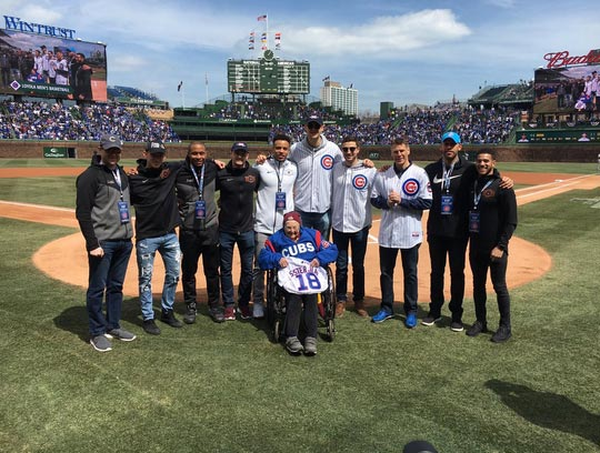 Sister Jean Throws Out The First Pitch At The Cubs Game