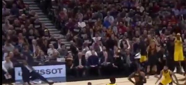 Nate McMillan Going HAM Arguing For a Foul Call