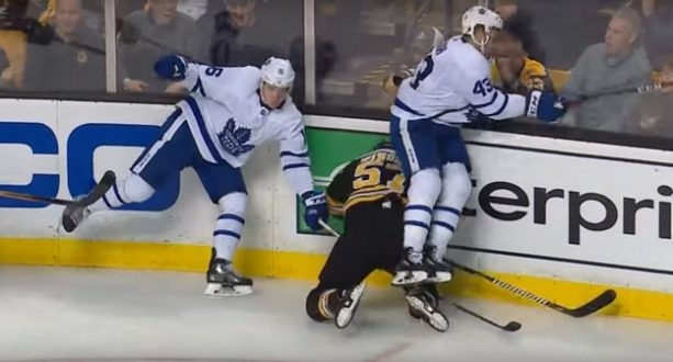 Leafs' Nazem Kadri Delivers Brutal Headshot to Bruins' Tommy Wingels (VIDEO)