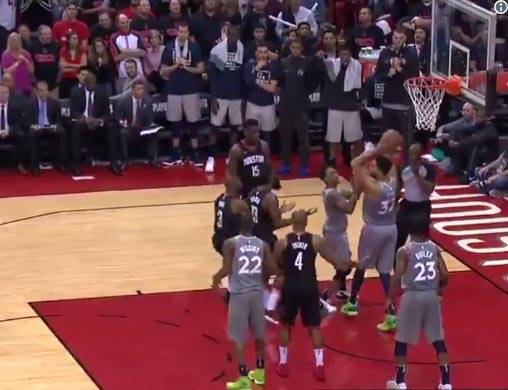 Rockets And Timberwolves Forget They're Playing Basketball (VIDEO)