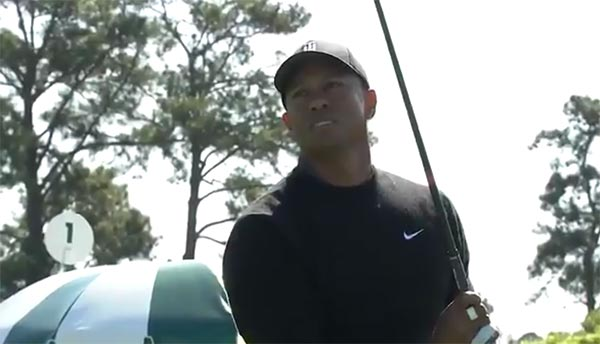 Watch Tiger Woods' Tee Shot To Open His 2018 Masters Round