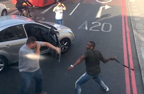 Vicious Road Rage Fight With Belts In London