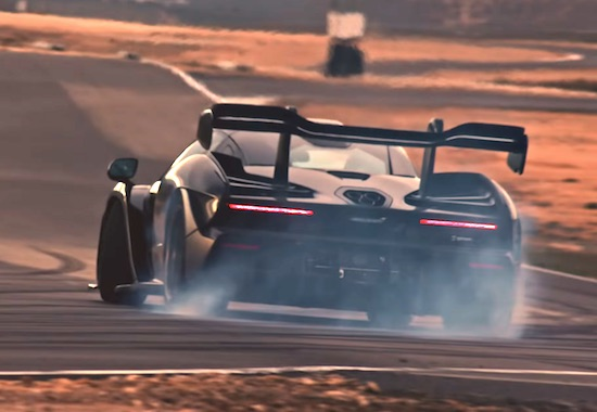 McLaren Senna: Bruno Senna hits the track