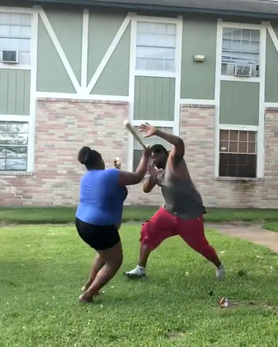 Meanwhile In Houston Apartment Complex They Brawlin'