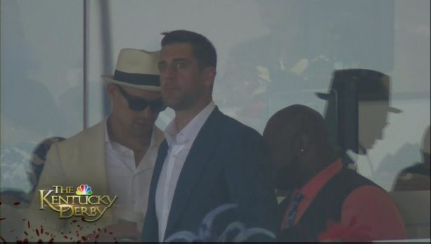 Aaron Rodgers At The Kentucky Derby Without Danica Patrick