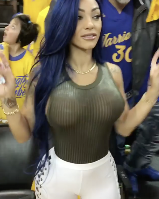 Steph Curry's Alleged Side Chick Was At The Warriors Game Last