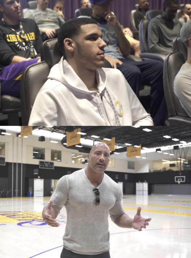 The Rock Teaches Los Angeles Lakers How to Be World Champions