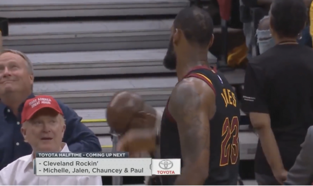 LeBron James Doesn't Give A Donald Trump Supporter His Towel in Game 3