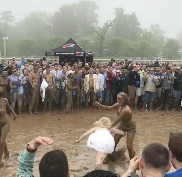 Mud Wrestling At The Preakness Anyone?