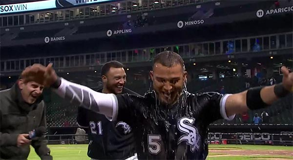 WATCH: White Sox Shortstop Gives Himself A Gatorade Shower In Awesome Postgame Videobomb