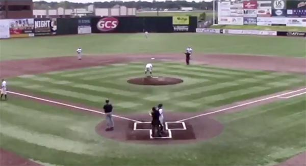 College Baseball Closer Throws Up Behind The Mound Before Recording A Save