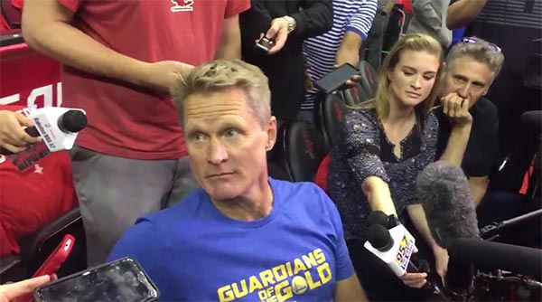 "Steve Kerr Rips NFL For Using Anthem As ""Fake Patriotism"" (VIDEO)"
