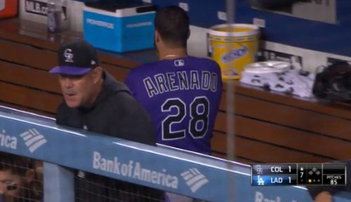Watch: Nolan Arenado Goes HAM In Dugout After Strikeout