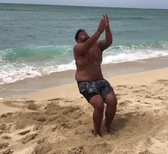 WATCH: Wisconsin Badgers Nose Tackle Do A Standing Backflip