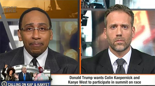 VIDEO: Stephen A. Smith and Max Kellerman Get Heated About Trump Kanye And Kaepernick