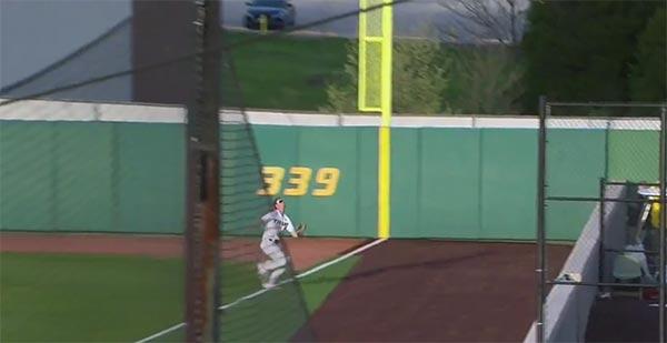 Missouri OF Cade Bormet Carted Off Field After Slamming Into Brick Wall (VIDEO)