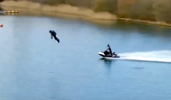 Gravity Industries – Speed & Agility Jet Suit Lake Testing