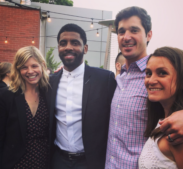 Knicks Fan Tries To Recruit Kyrie Irving At Party In NYC