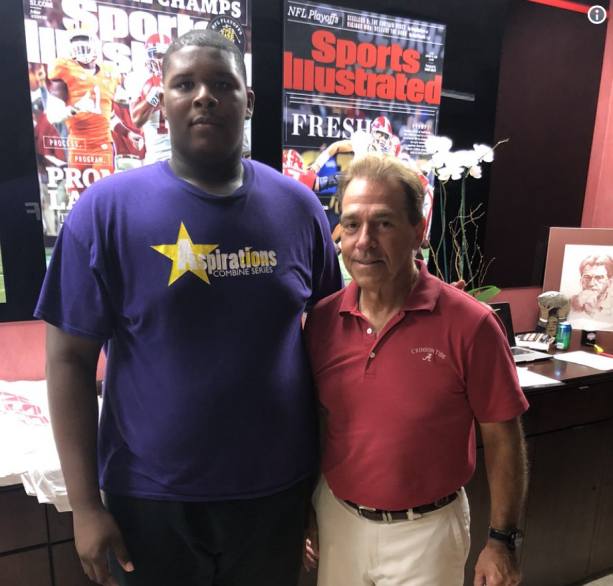 Alabama Offering A Football Scholarship to an 8th Grader