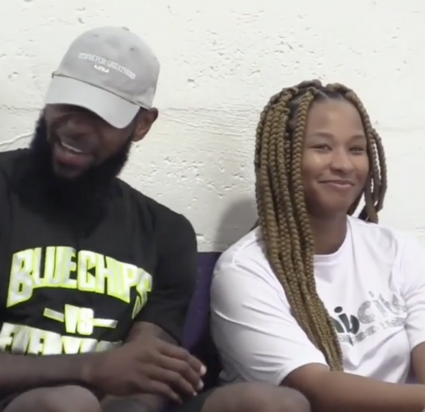 LeBron James Cheers On Son In South Florida Basketball tournament