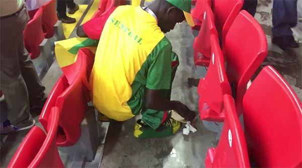 Senegal Fans Clean Up Their Own Trash After World Cup Match