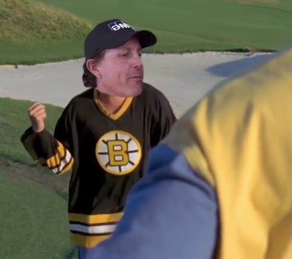 WATCH: Phil Mickelson Gets The Happy Gilmore Meme Treatment