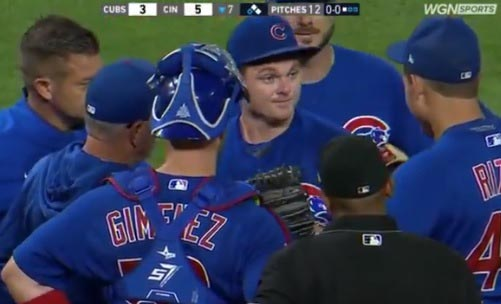 Watch: Cubs Pitcher Tells Anthony Rizzo To Shut Up